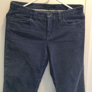 Theory Blue Corduroy Jeans 4